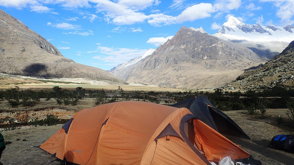 Notre campement, perdu au milieu des Andes